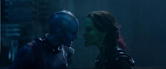 Nebula and Gamora