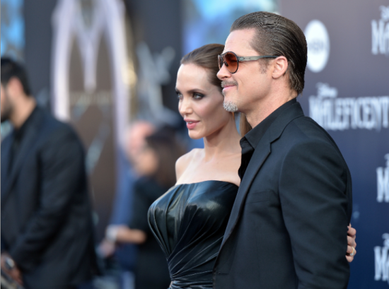 Maleficent premiere - Angelina Jolie and Brad Pitt