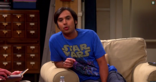 raj big bang theory star wars day